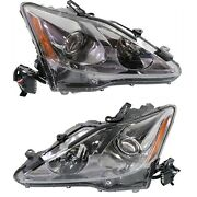 Headlight Set For 2011-2015 Lexus Is250 Left And Right With Bulb 2pc