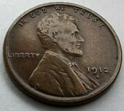 1912 - S - Us Lincoln Wheat Cent - Semi Key Date Coin Q434