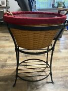 Longaberger Wrought Iron Beverage Tub And Stand Combo, Lightly Used.