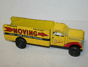 Antique Tin Walt Reach Toy By Courtland Moving Toy Truck