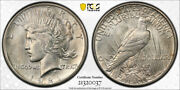 1921 1 Peace Dollar Type One High Relief Pcgs Ms 63 Uncirculated Key Date To...