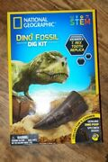 National Geographic T Rex Dinosaur Fossil Dig Kit,kid Science Experiment+ Tooth