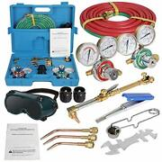 Zenstyle Oxygen And Acetylene Gas Cutting Torch And Welding Kit Portable Oxy Br...