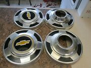 Set Of 4 1973-87 Chevy Truck 4x4 10 3/4 Dog Dish Hubcaps