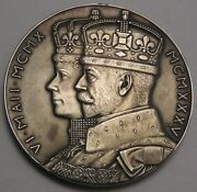Great Britain Large Silver Medal 1935 George V And Queen Mary 25 Coronation Ann.