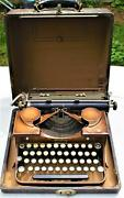 1931 Royal P Portable Typewriter Rare Duotone Green Antique P292968,magnificant