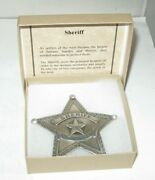 Famous Lawmen Of The Old West Ft Worth Tx Sheriff Star Badge New N Box Free Ship