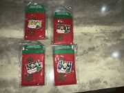 Christmas 2007 Limited Edition Disney Park Pins Lot Of 4 Gift Card Holder New
