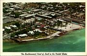 Postcard Fl Key West Aerial View The Southernmost Point Of Land In Usa 1966 S41