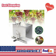 New Manual Grape Wine Cider Press Juice Crusher Equipment Stainless Steel Sliver