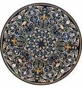 52 Black Marble Dining Table Top Pietra Dura Handmade Home And Garden