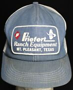 K-products Priefert Ranch Denim And Mesh Snapback Hat W/ Patch - Texas - Usa