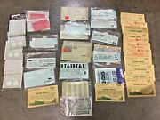 Vintage Huge Lot Of Ho Scale Model Train Decals As-is