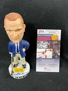 Red Berenson Signed Michigan Wolverines Team Issued Bobble Head Jsa Coa