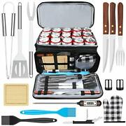 Aisitin Bbq Grill Accessories With Insulated Cooler Bag Grill Utensils Set Bb...