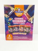 Elmerand039s Gue 4pk Cosmic Shimmer Premade Slime Variety Pack-goldteal Purple Red
