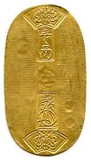 Japan 1837-1868 Gold Koban From The Tempo Era 11.2g 59mm Long Nearly Unc