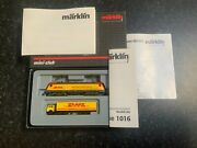 Marklin Spur Z Scale/gauge Electric Locomotive And Truck. Dhl Advertising. Rare.