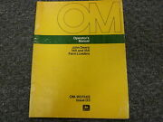 John Deere 148 And 158 Farm Loader Attachment Owner Operator Manual Omw214348