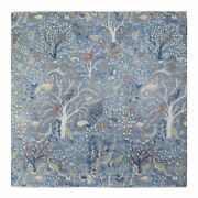 10and039x10and039 Denim Blue Fine Peshawar Soft Wool Hand Knotted Square Rug R68819