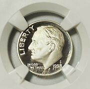 1998 Roosevelt Silver Dime Ngc Pf69 Ultra Cameo San Francisco Mint 10c Proof