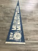 Miller Lite Milwaukee Wisconsin Brewing Company Pennant Blue Vintage Beer Only