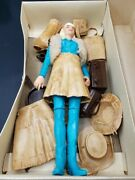 Marx Toys Jane West Doll W/ Box And Accessories Near Complete