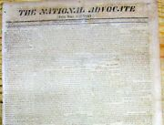 1814 War Of 1812 Newspaper With Events Leading To The Capture Of Washington Dc