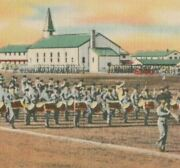 1930s-40s Lackland Texas Air Force Base Largest Cadet Marching Band Postcard