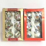 12 Vintage Corning Glass Mouse And Raggedy Ann/bear/cat Ornaments