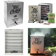 Smokehouse Big Chief Front Load Cooking Bbq Electric Smoker Grill W/ Wood Chips