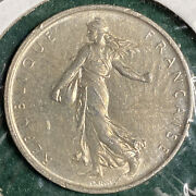 France 1963 5 Francs Sower Semeuse Au Silver Coin Km 926 Free Shipping