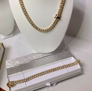 Stainless Steel Yg Finish Chain And Braclete Set With Beautiful Box
