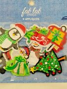 8 Christmas Embroidered Under 2 Inches Appliques New