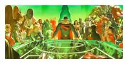 Alex Ross Signed Kingdom Come War Room Giclee On Canvas Limited Ed Of 25 A Proof