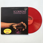 Scorpions - Lonesome Crow Lp Vinyl Record Colored Red Import Bomb Canadian 1978