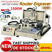 Usb 4axis 1.5kw Cnc 6040 Engraver Machine Metal Copper Steel Cutter Water Cooled
