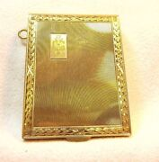 Beautifully Engraved Solid 14k Gold Matchbook Cover Could Be For A Chatelaine