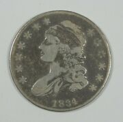 1834 Small Date/small Letters Capped Bust/lettered Edge Silver 50-cents Vg