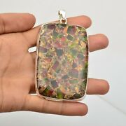 Copper Turquoise Gemstone Jewelry 925 Sterling Silver Pendant For Girls Kb15498