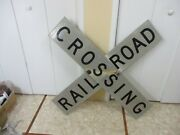 Vintage Railroad Crossing Crossbuck Railway Sign Train Gate Retired And Weathered