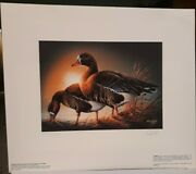 1985 Minnesota Duck Stamp And Print White Fronted Geese By Terry Redlin,