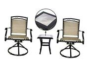 Outdoor Swivel Chairs Set Patio Dining Rocker Bistro Chair Of 2 Chairs, And 1