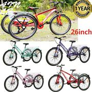 Adult 27.5inch Mountain Tricycle 7speed 3wheel Cruiser Mtb Trike For Outdoor