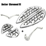 Chrome Footboards For Harley Street Glide Passenger Pegs Road King Electra Glide