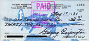 Colonel Greg Pappy Boyington - Check Signed 05/19/1980