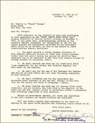 Casey The Old Professor Stengel - Contract Signed 10/27/1960