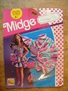 1990 Nos New Old Stock In Box Vintage Toy Doll Clothes Midge Clothing Barbie