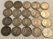 Roll Of 20 Mixed Vg-vf Pre-1921 Morgan Silver Dollar Coins Most Fine. Aer27