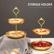 Fruit Tray Stand Snack Holder Nordic Style Multifunctional Tabletop Double Layer